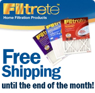 Free shipping on 3M Filtrete until the end of the month!