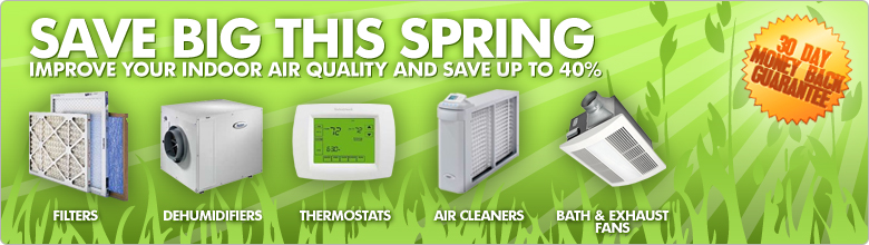 Spring Savings on Furnace Filters